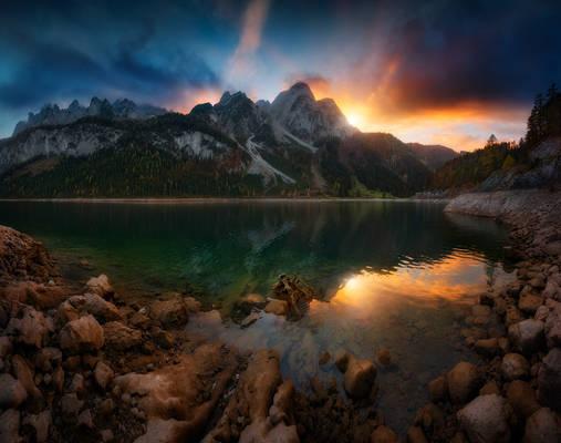 Gosauseen sunset