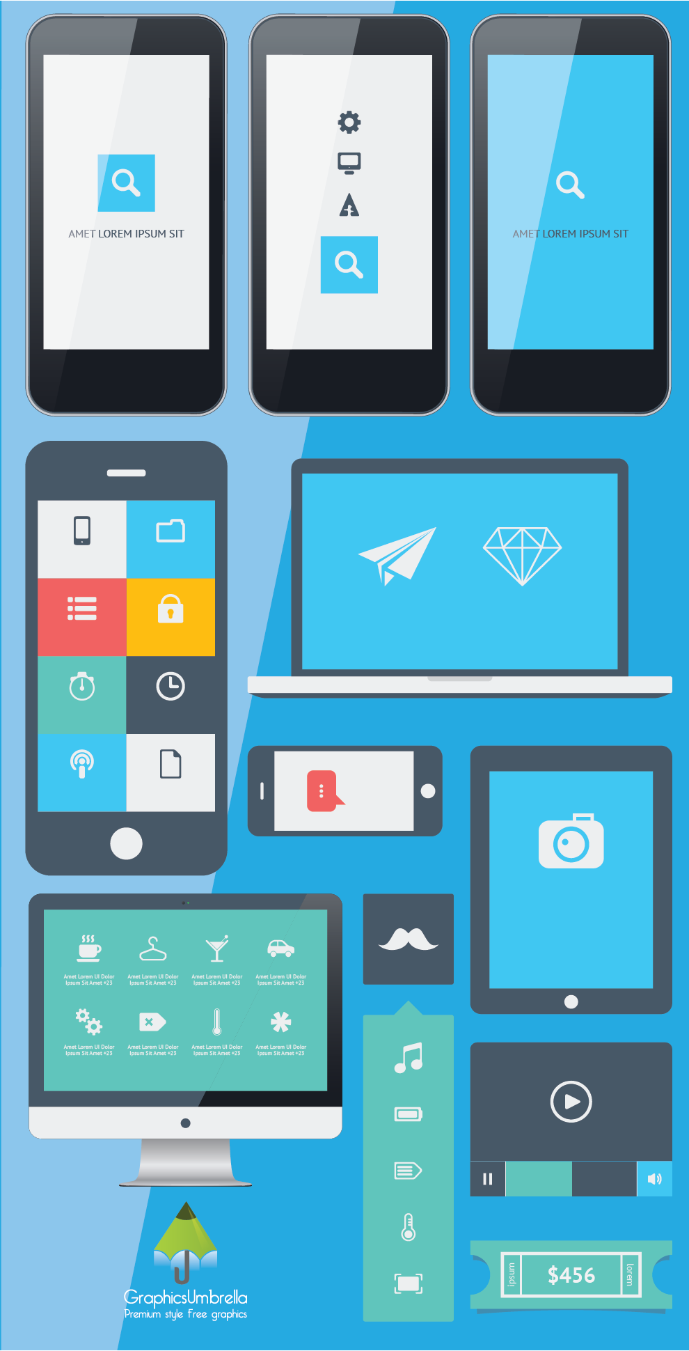 Vector iphone app ui design free by graphicsumbrella on for App design online