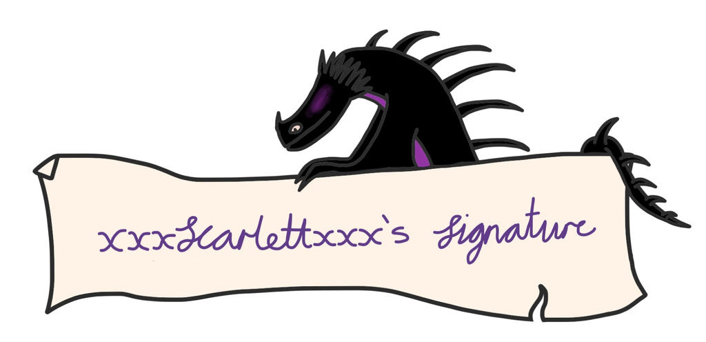 A request - Scar dragon rider's signature banner by VexyLu