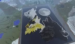 Minecraft Wolf Art by Faithdougwolve