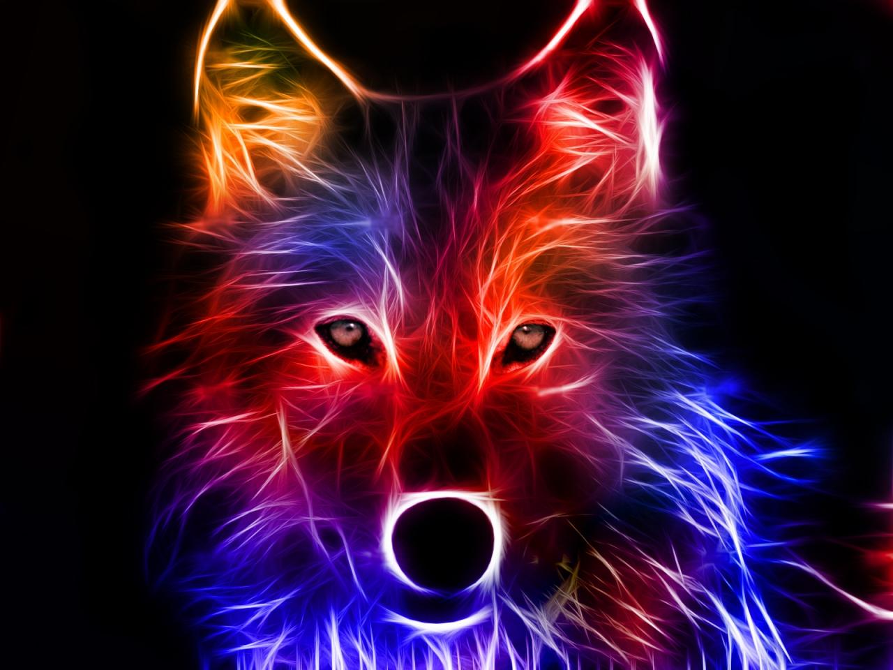 ~~~Glowing wolf~~~ by FluffyFaithy