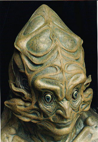 psychedelic alien painted by barbelith2000ad