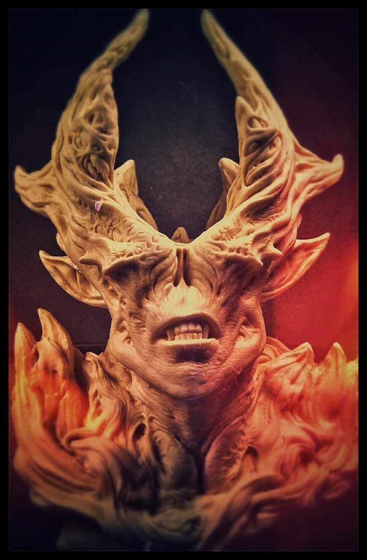 Demon resin cast by barbelith2000ad