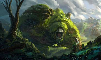 Hill Monster by Domen-Art