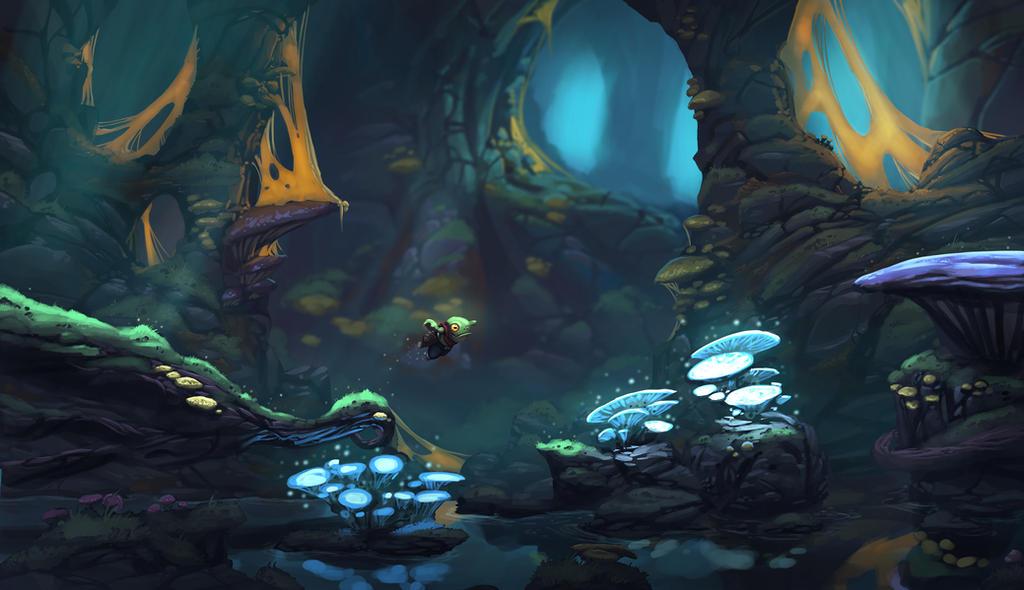 Underworld sidescroller concept art by Domen-Art