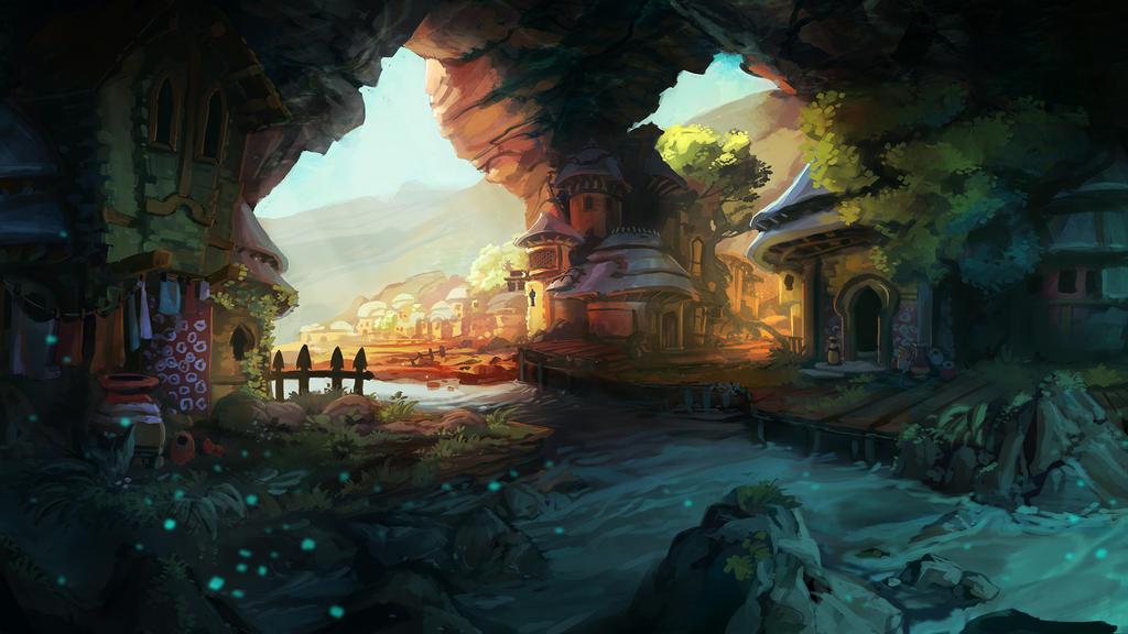 Miasteczko skrzatów Cavern_town_by_domen_art-d96k3vp
