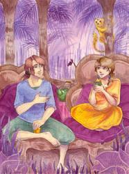 Tea in my garden by Dryas-juas