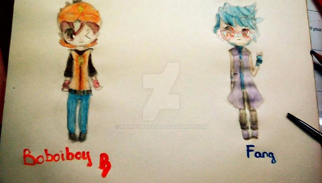 Boboiboy and Fang(BoiFang) by NomNomTran
