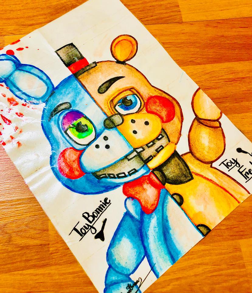 Bonnie and Freddy fanart by NomNomTran