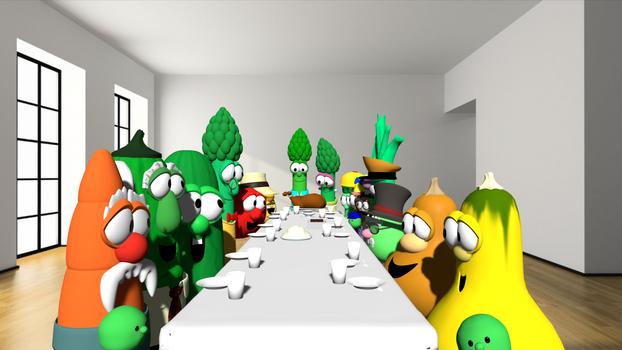 The VeggieTales Thanksgiving Family
