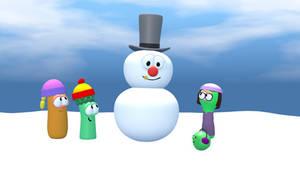 The Veggie Kids meets Bobby the Snowman