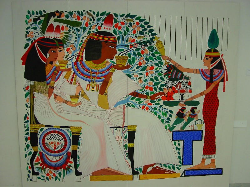 Ancient egyptian wall painting by pilori on deviantart for Egyptian fresco mural painting
