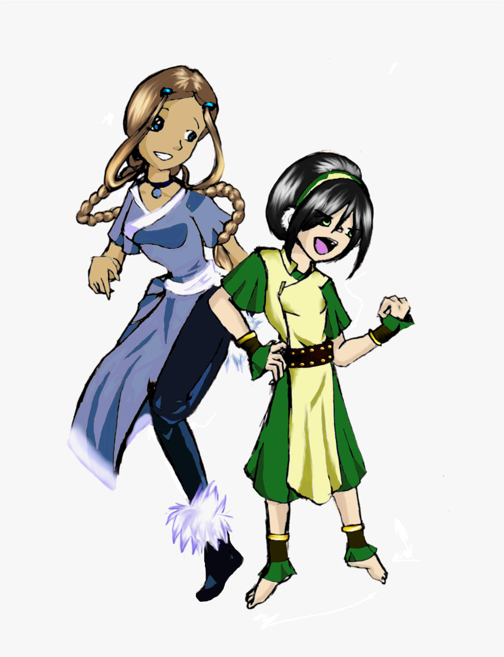 Toph and Katara Masters Dance by mr35mm on DeviantArt
