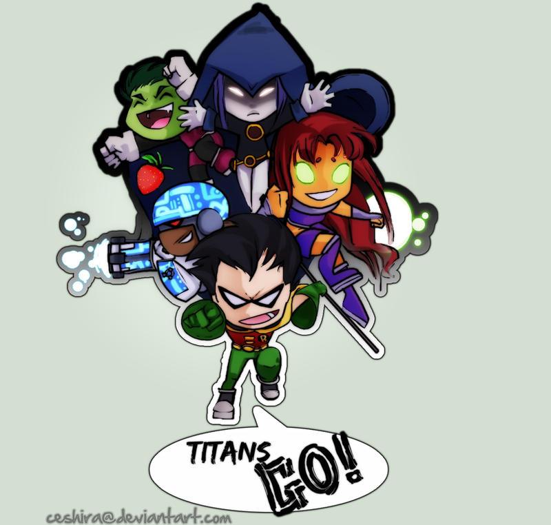 Chibi Titans GO by Ceshira