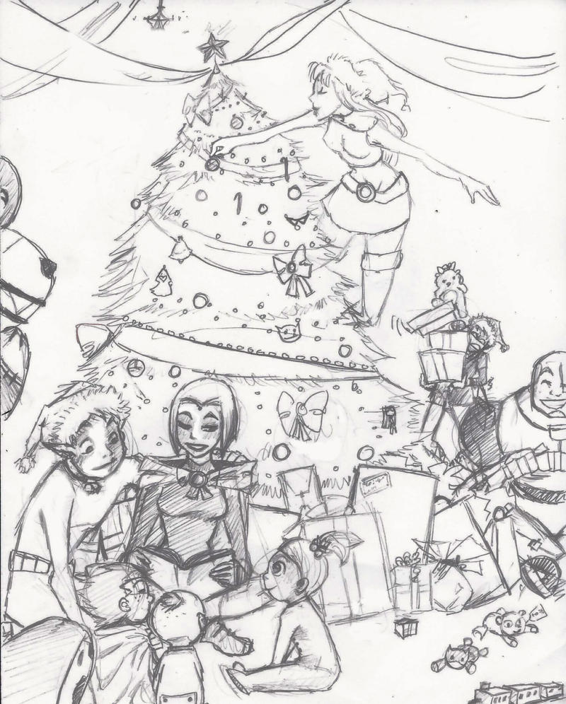 Color Me For Christmas-sketch By Ceshira On DeviantArt