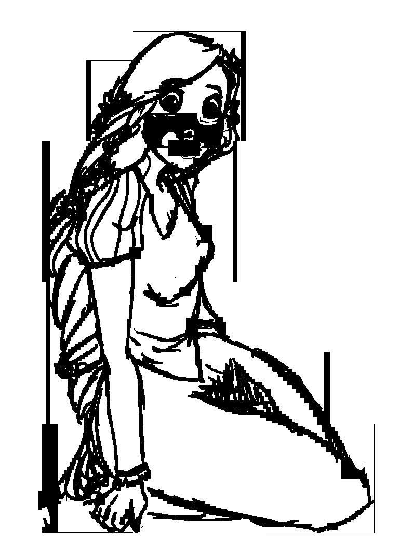 Rapunzel Lineart : Rapunzel lineart by ceshira on deviantart
