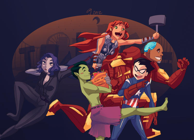 illustration Avengers