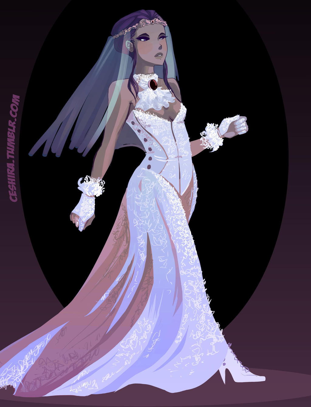 Wedding dress- Raven by Ceshira
