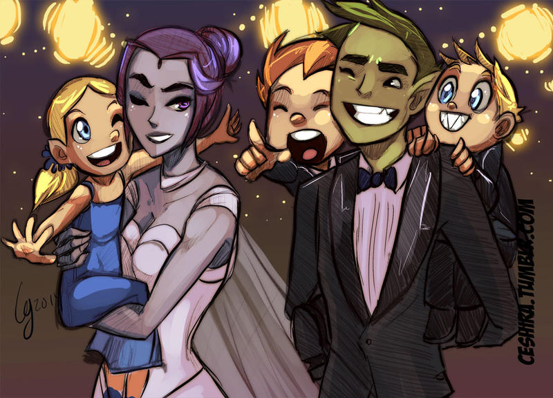 A Kiss for New Years! by Ceshira on DeviantArt   Teen Titans