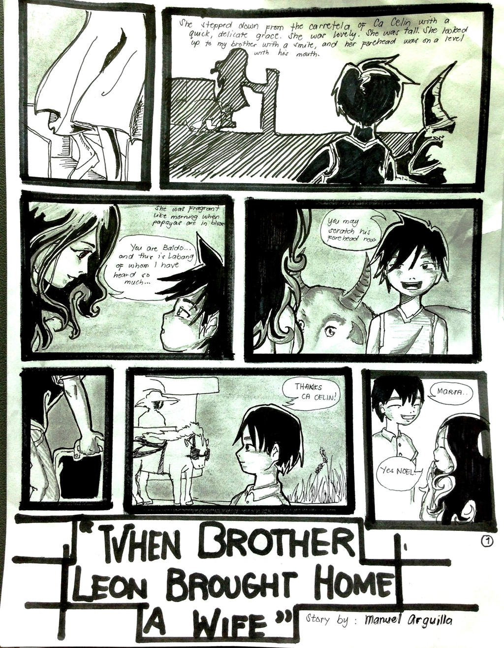 comics strip for how my brother leon How my brother leon brought home a wife (short story) questions including what is the introduction of the story how my brother leon brought home a wife and what.