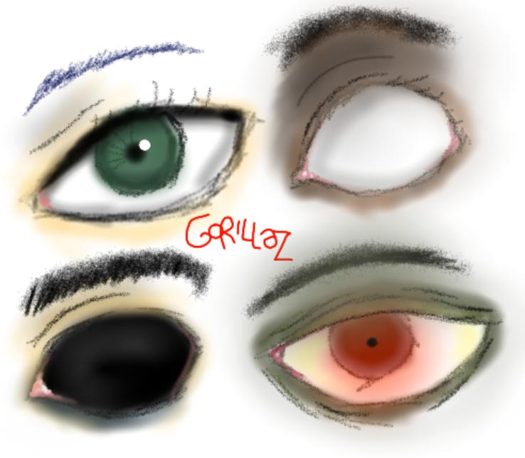 Gorillaz Eyes By Twodandnoodle
