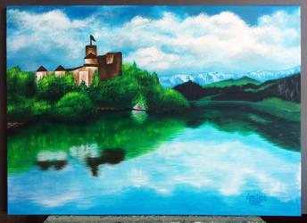 Niedzica Castle by LaertanaArt