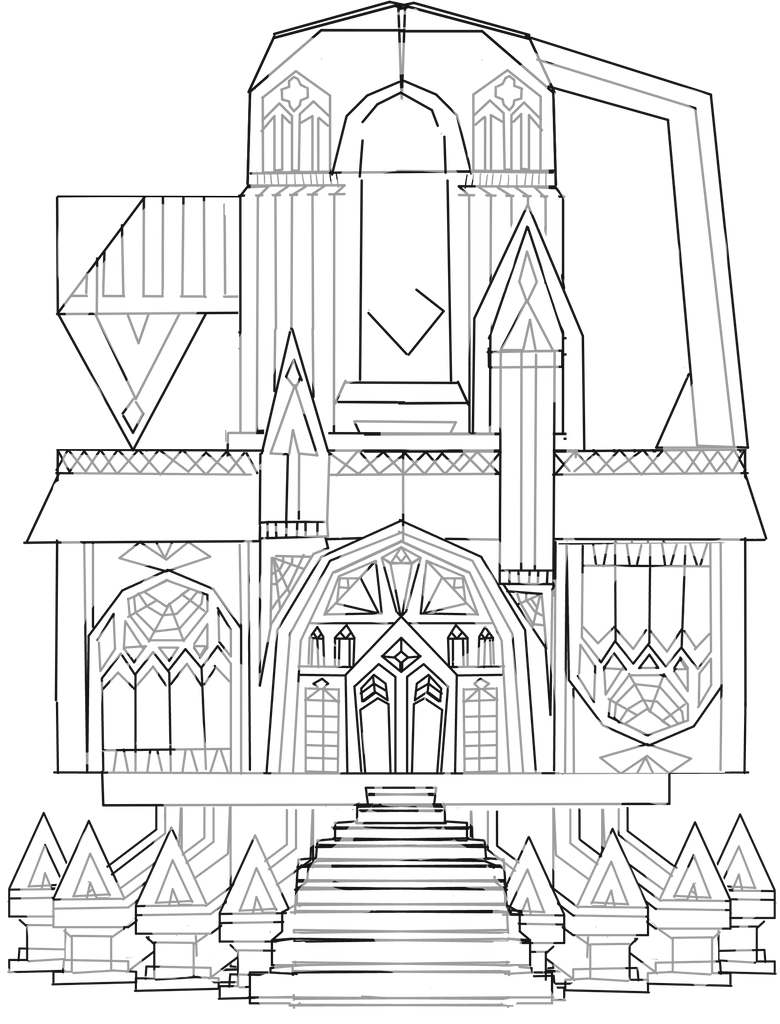 Gothic Architecture Sketch By Nahmei On Deviantart