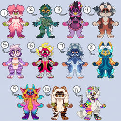 10/11 OPEN Furry Adoptables