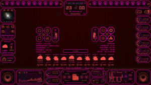Auto System HUD Tech fantasy new version ( red w )