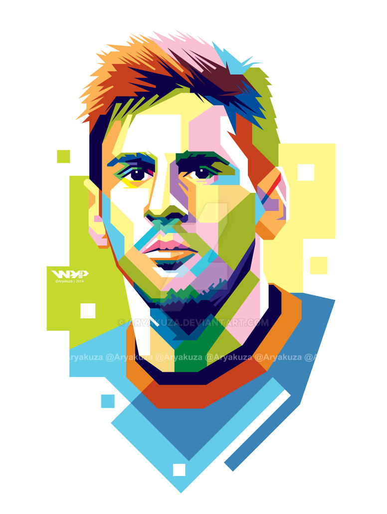 lionel messi in wpap by aryakuza on deviantart Football Player Clip Art Football Stadium Clip Art