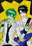 TT- Robin and BB as Rock Stars