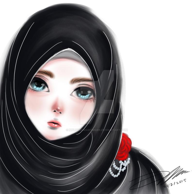 Black Hijab Beauty By Mylucidheartwork