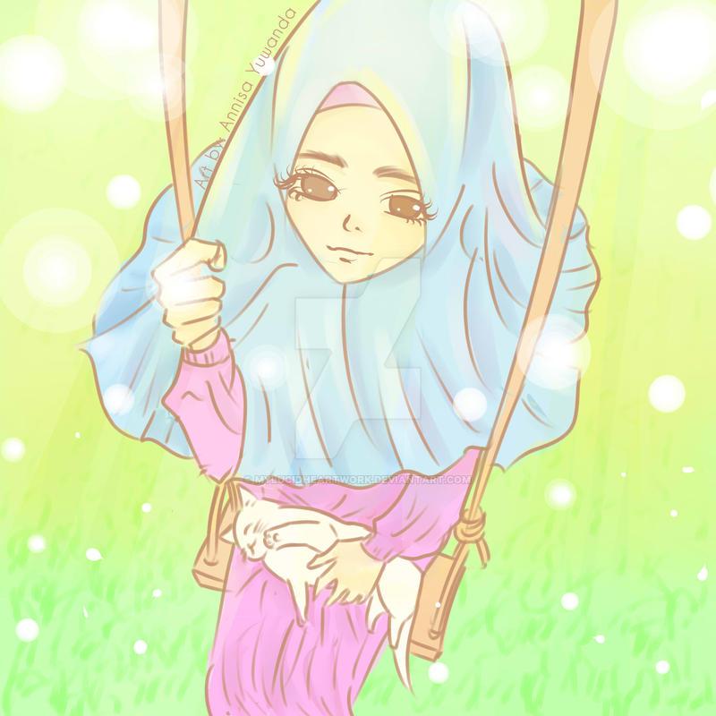 Wallpaper Deviantart Anime Muslimah Picturesque Comic Www