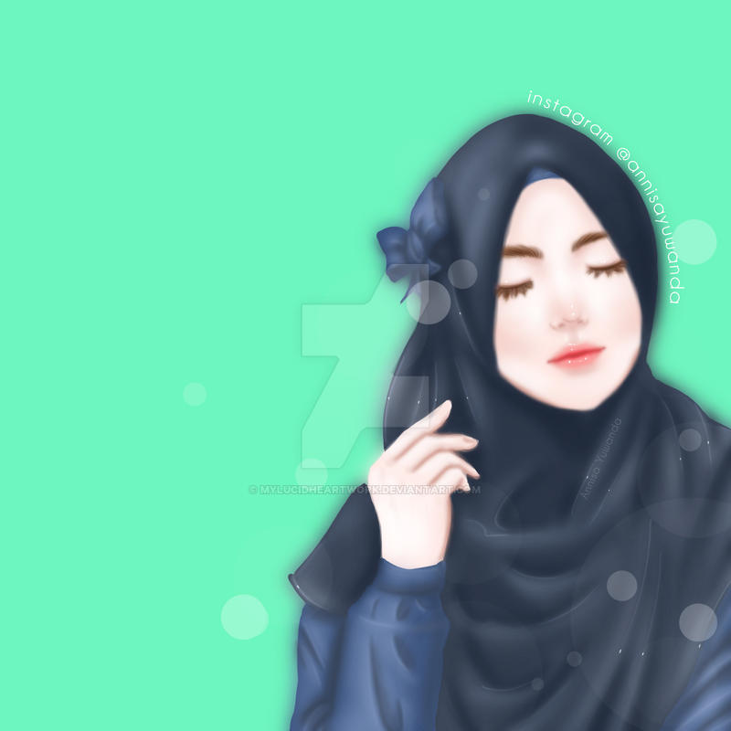 Beautiful Muslimah Hijab Girl 21 By Mylucidheartwork
