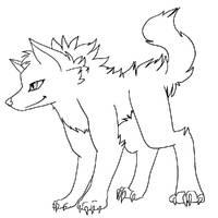 Free wolf lineart by DarkTailz