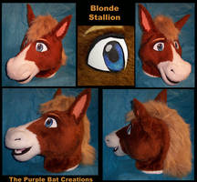 Clyde the Blonde Stallion by Fursuit