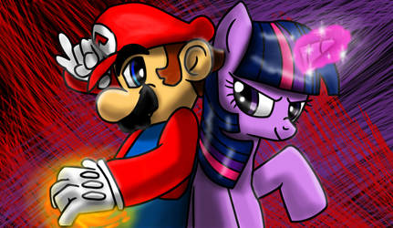 Mario and Twilight: SM-MLP Combo 1 by s216Barber
