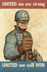 WWII Cap Propaganda Poster
