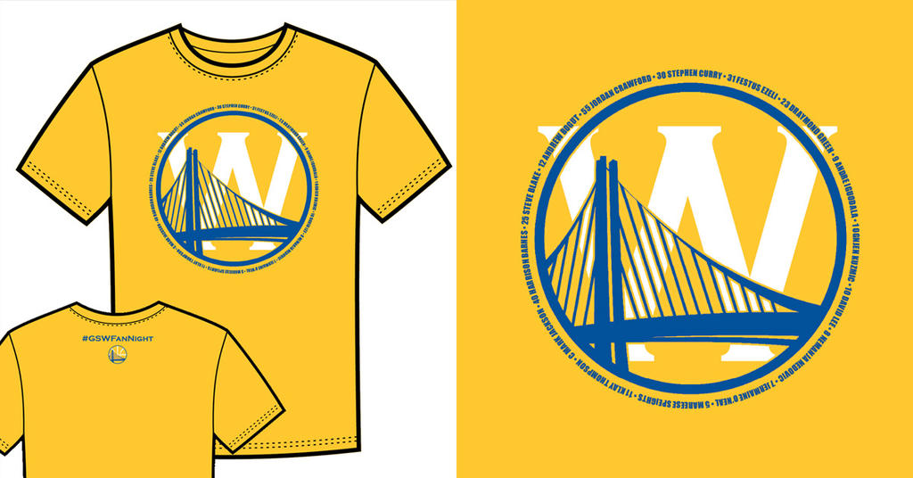 Warriors T-Shirt Idea - Bridge and W (Yellow) by jtchan