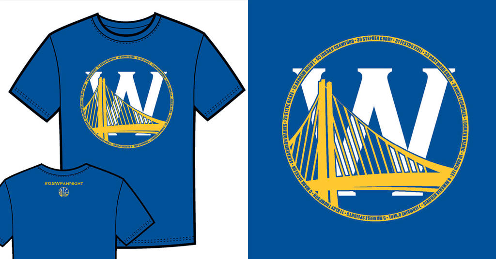 Warriors T-Shirt Idea - Bridge and W 2 (Blue) by jtchan