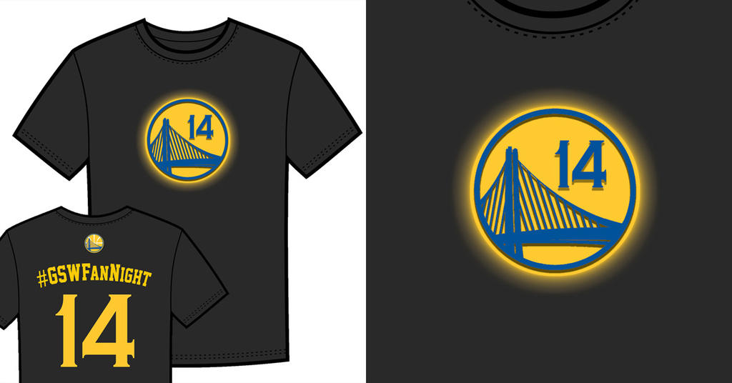 Warriors T-Shirt Idea - Logo Glow by jtchan