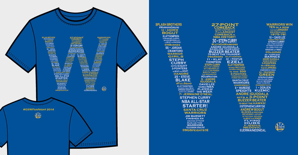 Warriors T-Shirt Idea - W 2014 Events by jtchan