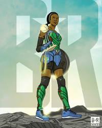 Bleacher Report Justice League: Wonder Moore by jtchan
