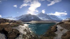 Wild lake in Bolivia