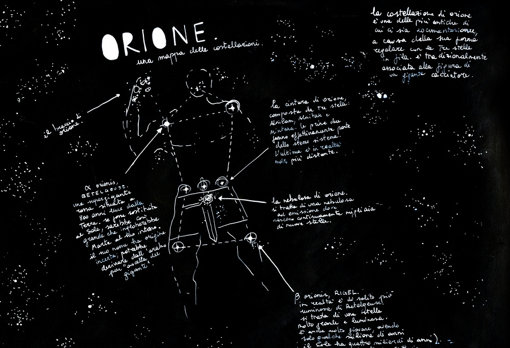 Orion Constellation Art Orion a Constellation Map by