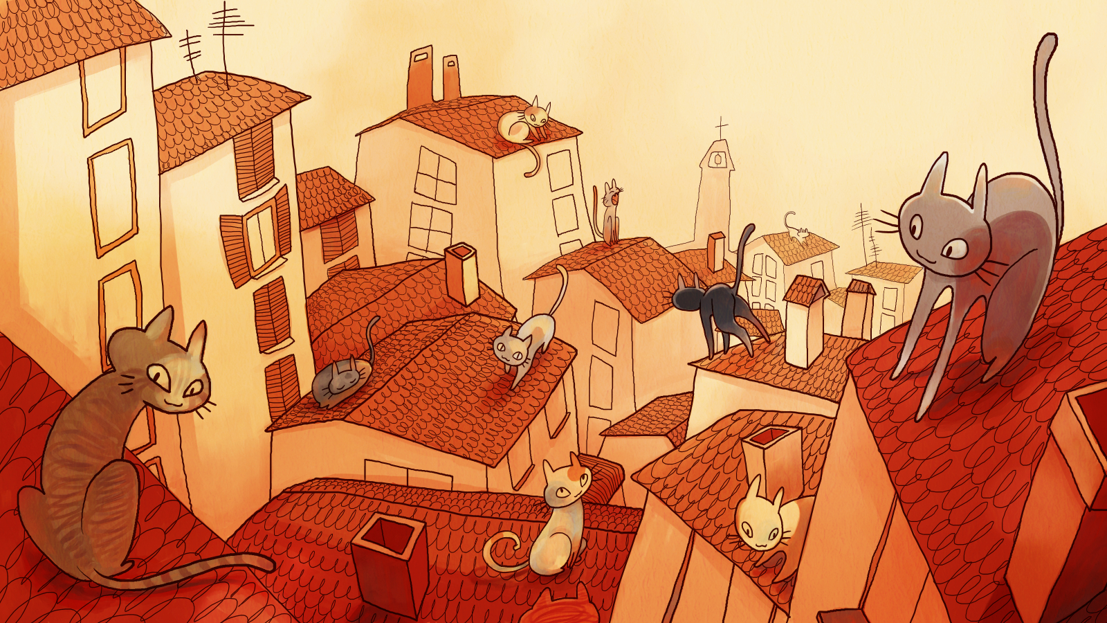 Cat city by metalparts