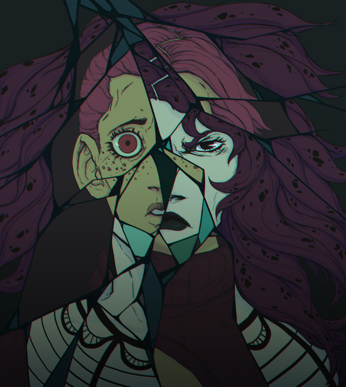 Diavolo and Doppio (manga colors)