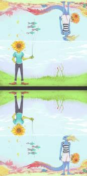 Sunflower and Fish