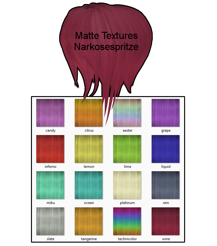 Matte Hair Textures + Download by Narkosespritze