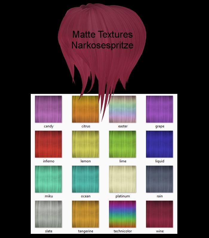 Matte Hair Textures + Download by Narkosespritze
